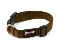 Smoochy Poochy  Nylon Collar - Brown