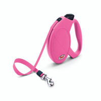Flexi Classic Compact All Tape Retractable Leash - Pink