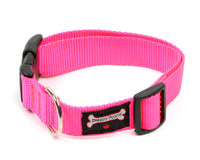Smoochy Poochy Nylon Collar - Hot Pink