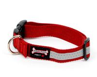 Smoochy Poochy  Nylon Reflective Collar - Red
