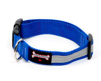 Smoochy Poochy  Nylon Reflective Collar - Ocean