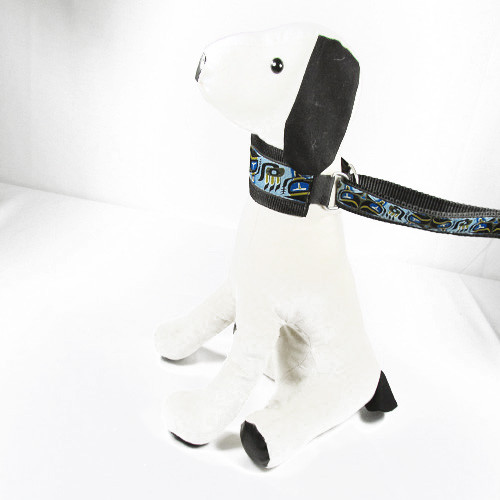 Silverfoot Hound Collar & Leash Combo - Pacific Otter Blue