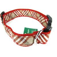 Canine Styles Collar - Plaid Red