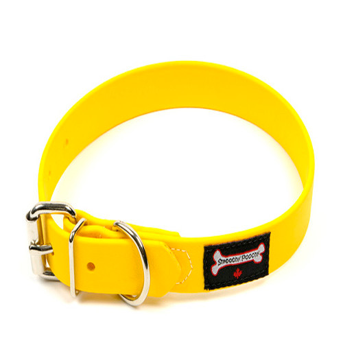 Smoochy Poochy Waterproof  Collar - Yellow (Leather Alternative Material)