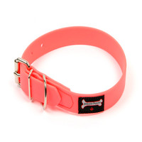 Smoochy Poochy Waterproof Collar- Hot Pink  (Leather Alternative Material)