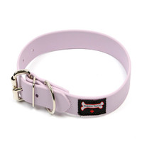 Smoochy Poochy Waterproof  Collar - Lavender (Leather Alternative Material)