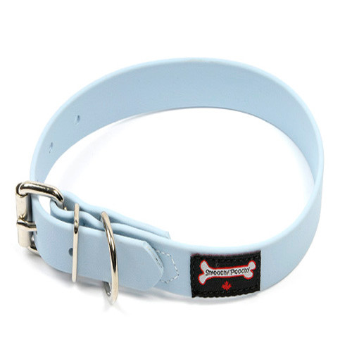 Smoochy Poochy Waterproof Collar - Baby Blue (Leather Alternative)