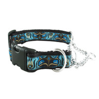 Silverfoot Quick-Release Martingale Collar - Pacific Otter Blue