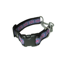 Silverfoot Quick-Release Martingale Collar - Heartbeat Purple