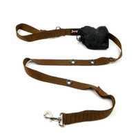 Smoochy Poochy  Nylon Hands-Free Leash - Brown