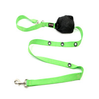 Smoochy Poochy Nylon Hands-Free Leash -- Apple