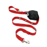 Smoochy Poochy Nylon  Hands-Free Leash -- Red