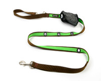 Smoochy Poochy 2Tone Hands-Free Leash - Brown Apple