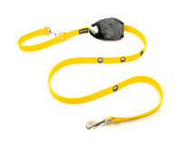 Smoochy Poochy  Waterproof Hands-Free Leash -Yellow (Leather Alternative Material)