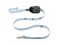Smoochy Poochy Waterproof Hands-Free Leash - Baby Blue  (Leather Alternative)
