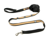 Smoochy Poochy 2Tone Hands-Free Leash - Black Beige