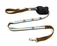 Smoochy Poochy 2Tone Hands-Free Leash - Brown Baby Blue