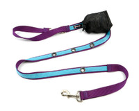 Smoochy Poochy 2Tone Hands-Free Leash-- Purple Turquoise