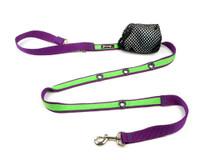 Smoochy Poochy 2Tone Hands-Free Leash -- Purple Apple