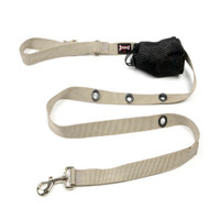 Smoochy Poochy Nylon Hands-Free Leash - Silver