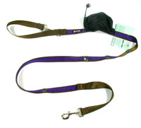 Smoochy Poochy 2Tone Hands-Free Leash - Brown Purple