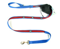 Smoochy Poochy 2Tone Hands-Free Leash -- Ocean Red