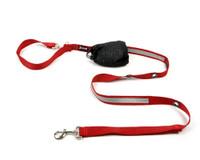 Smoochy Poochy Nylon Hands-Free Reflective Leash - Red