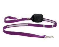 Smoochy Poochy Nylon Hands-Free Reflective Leash -- Purple
