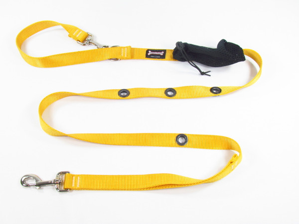 Smoochy Poochy  Nylon Hands-Free Leash - Sunflower