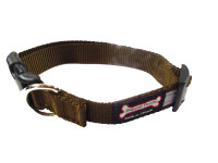 Smoochy Poochy  Nylon Collar Reflective  - Brown