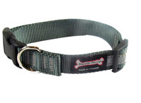 Smoochy Poochy  Nylon Collar Reflective  - Charcoal