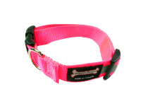 Smoochy Poochy  Nylon Collar Reflective  - Hot Pink