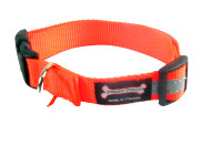 Smoochy Poochy  Nylon Collar Reflective  - Orange
