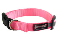 Smoochy Poochy  Nylon Collar Reflective  - Baby Pink