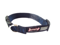 Smoochy Poochy  Nylon Collar Reflective  - Navy