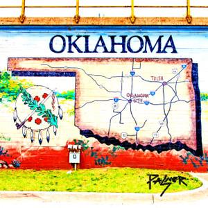 Oklahoma Map // OK024