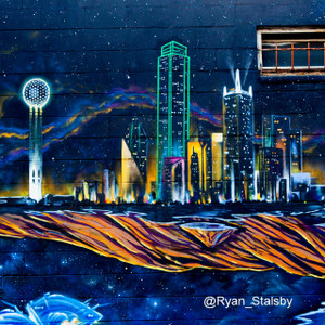 Dallas Skyline Mural // DTX096