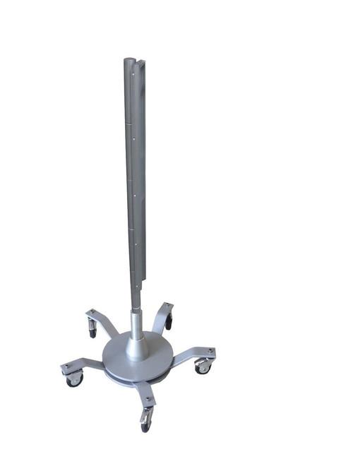 """Double base unit, caster wheels, 1600mm post, 18"""" rail"""