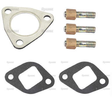 Exhaust Manifold Gasket/Stud Install Kit for Massey-Ferguson Tractor w/ 3 cyl Perkins