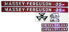 Massey-Ferguson 35 Hood/Seat Decal Kit w/ Diesel-Deluxe