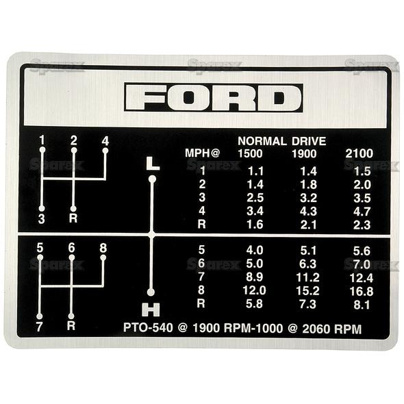 40 Speed Shift Pattern Decal Ford 404040 Srs Tractor Classy 15 Speed Shift Pattern