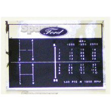 Ford Tractor Shift Pattern Decal 6-Speed '65-up 2000/3000 Series