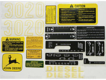 John Deere 3020 Complete Decal Set
