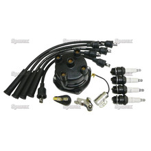 Complete Ignition Tune-Up Kit for Massey-Ferguson Tractor w/ Delco Screw-Held Cap Distributor