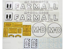IH Farmall MD Tractor Complete Decal Kit
