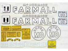 IH Farmall Super MD Tractor Complete Decal Kit