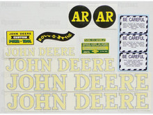 John Deere AR (late) Tractor Complete Decal Kit