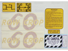 Oliver 60 Row Crop Tractor Complete Decal Kit