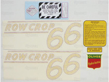 Oliver 66 Row Crop Tractor Complete Decal Kit - Main Photo