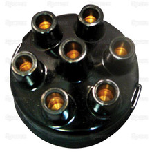 Oliver/Cockshutt 6 Cyl. Tractor Distributor Cap (Clip-Held)